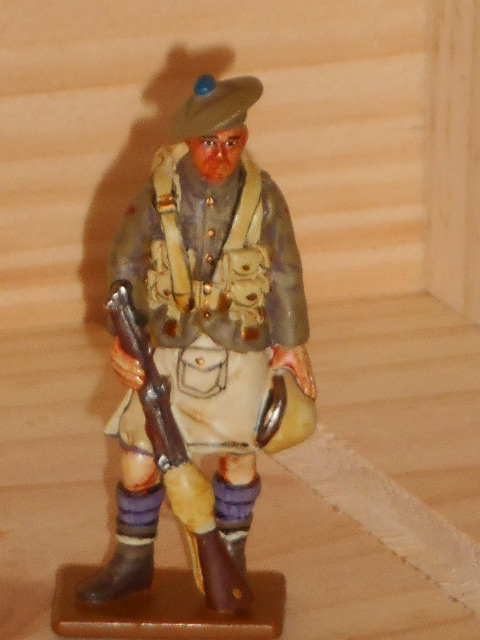 SOLDAT DE PLOMB DEL PRADO 39/45 LONDON SCOTTISH RGT