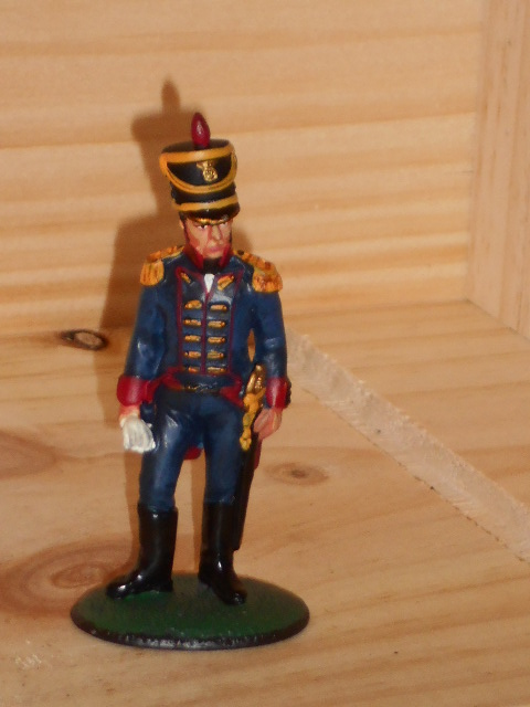 SOLDAT DE PLOMB DEL PRADO 1 er EMPIRE CAPTAIN FOOT ARTILLERY SPANISH