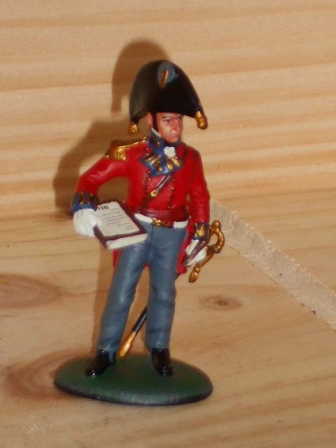SOLDAT DE PLOMB DEL PRADO 1 er EMPIRE OFFICIER ROYAL ENGINEER